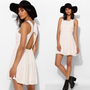 9daa0d90699 Urban Outfitters Dresses - UO Pins   Needles Fiona Lace-Up Back Skater Dress